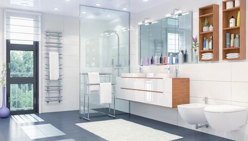 Fliesenleger Meisterbetrieb Badezimmer mit Dusche und Fliesen