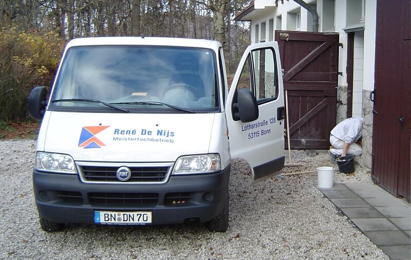 Handwerkerfahrzeug Firma Fliesenleger de Nijs